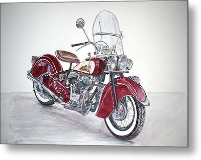 Indian Motorcycle Metal Print by Anthony Butera