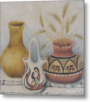 Indian Pots Metal Print by Summer Celeste