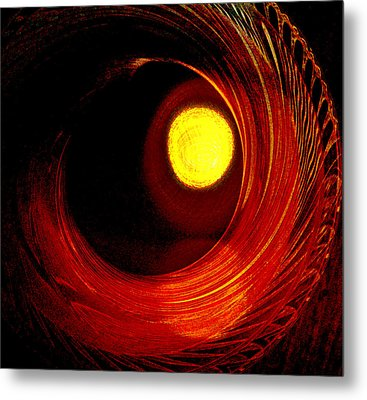 Indian Pottery As Earth Air Fire Metal Print by Lenore Senior