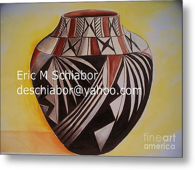 Indian Pottery Metal Print by Eric  Schiabor