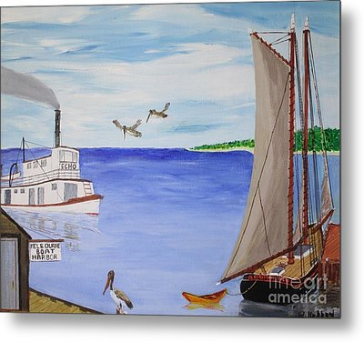 Indian River Commerce-1900 Metal Print by Bill Hubbard