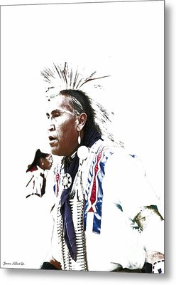 Indian Warrior Metal Print by Robert Jensen