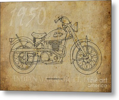 Indian Warrior Tt 1950 Metal Print by Pablo Franchi