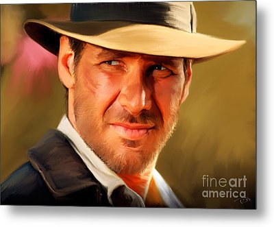 Indiana Jones Metal Print by Paul Tagliamonte