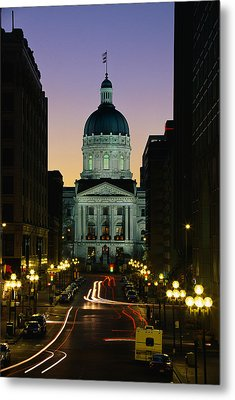 Indiana State Capitol Building Metal Print by Panoramic Images