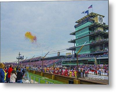 Indianapolis 500 May 2013 Balloons Race Start Metal Print by David Haskett