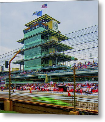 Indianapolis 500 May 2013 Square Metal Print by David Haskett