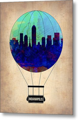 Indianapolis Air Balloon Metal Print by Naxart Studio