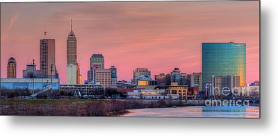 Indianapolis At Sunset Metal Print by Twenty Two North Photography
