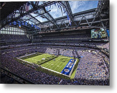 Indianapolis Colts 3 Metal Print by David Haskett