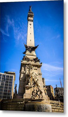 Indianapolis Indiana Soldiers And Sailors Monument Picture Metal Print by Paul Velgos