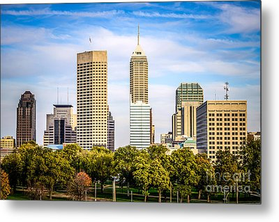 Indianapolis Skyline Picture Metal Print by Paul Velgos