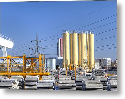Industrial Scene With Concrete Metal Print by Fizzy Image