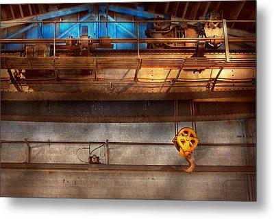 Industrial - The Gantry Crane Metal Print by Mike Savad