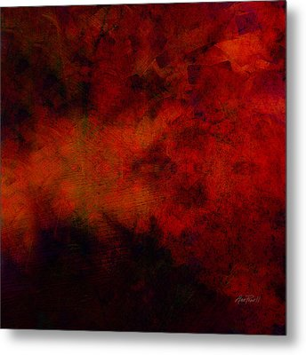Inferno - Abstract - Art  Metal Print by Ann Powell