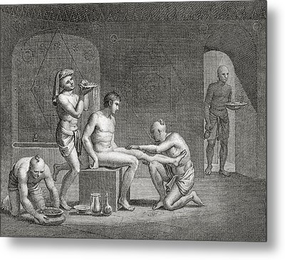 Inside An Egyptian Bathhouse, C.1820s Metal Print by Dominique Vivant Denon