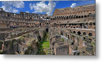 Inside Colosseum Metal Print by Patrick Jacquet