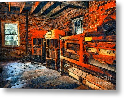 Inside Kerr Mill II - North Carolina Metal Print by Dan Carmichael