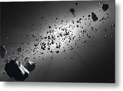 Inside The Asteroid Belt Against The Sun Metal Print by Johan Swanepoel