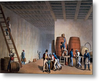 Inside The Distillery, From Ten Views Metal Print by William Clark
