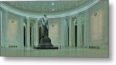 Inside The Jefferson Memorial Metal Print by Metro DC Photography