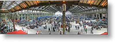 Inside Train Station, Nice, France Metal Print by Panoramic Images