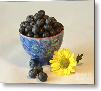 Inspired By Blue Berries Metal Print by Inspired Nature Photography Fine Art Photography
