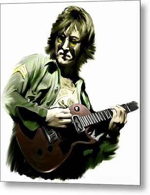 Instant Karma  John Lennon Metal Print by Iconic Images Art Gallery David Pucciarelli