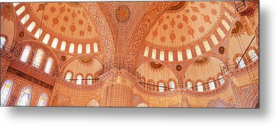 Interior, Blue Mosque, Istanbul, Turkey Metal Print by Panoramic Images
