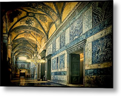 Interior Narthex Metal Print by Joan Carroll