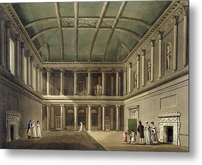 Interior Of Concert Room, From Bath Metal Print by John Claude Nattes
