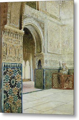 Interior Of The Alhambra  Metal Print by French School