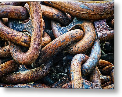 Interlocked Metal Print by Christi Kraft