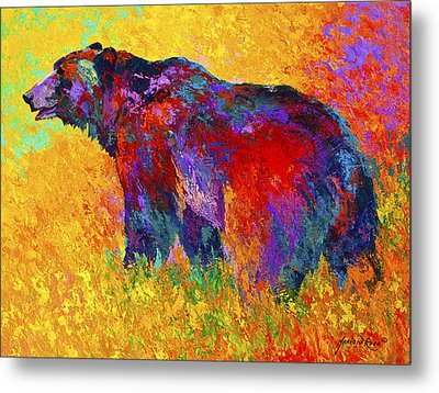 Into The Wind Metal Print by Marion Rose