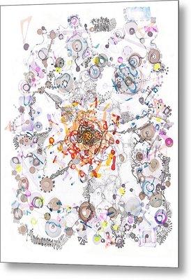 Intracellular Diversion Metal Print by Regina Valluzzi