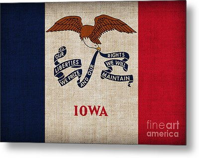 Iowa State Flag Metal Print by Pixel Chimp