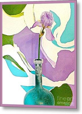 Iris Identity Metal Print by Marsha Heiken