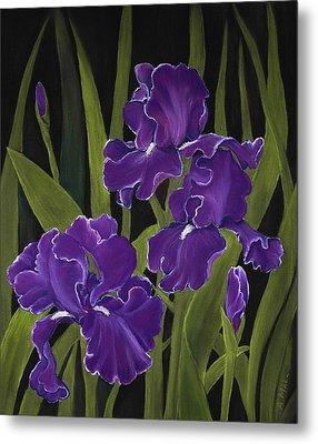 Irises Metal Print by Anastasiya Malakhova