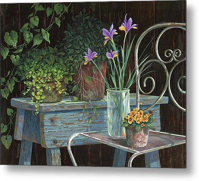 Irises Metal Print by Michael Humphries