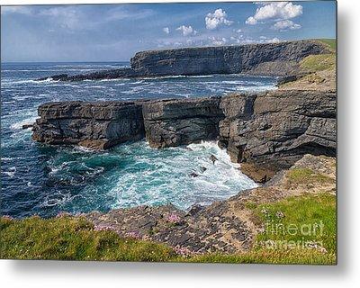 Irish Cliffs Metal Print by Juergen Klust