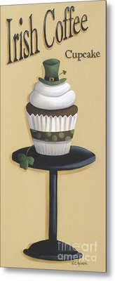 Irish Coffee Cupcake Metal Print by Catherine Holman