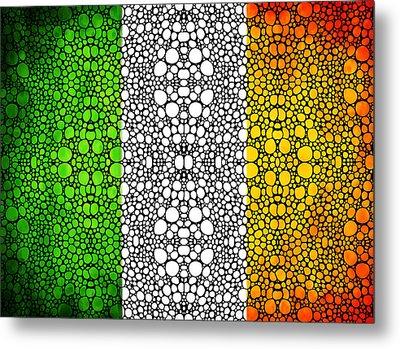 Irish Flag - Ireland Stone Rock'd Art By Sharon Cummings Metal Print by Sharon Cummings