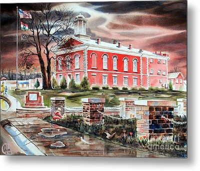 Iron County Courthouse No W102 Metal Print by Kip DeVore