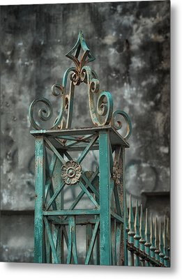 Ironwork In The Quarter Metal Print by Brenda Bryant