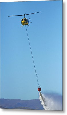 Iroquois Helicopter With Monsoon Metal Print by David Wall