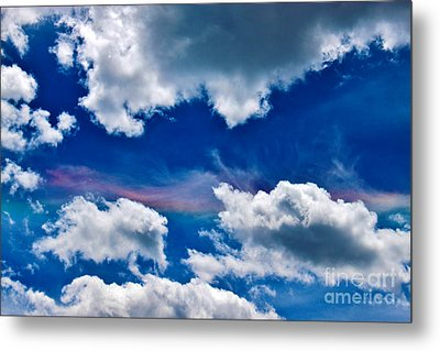 Irridescent Rainbows Among The Clouds Metal Print by Janice Rae Pariza
