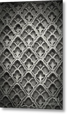 Islamic Art Stone Texture Metal Print by Antony McAulay