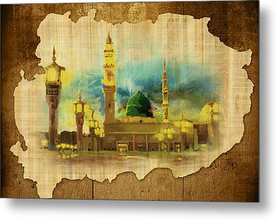 Islamic Calligraphy 035 Metal Print by Catf