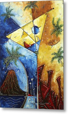 Island Martini  Original Madart Painting Metal Print by Megan Duncanson