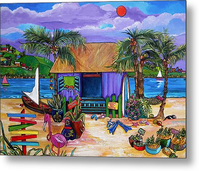 Island Time Metal Print by Patti Schermerhorn
